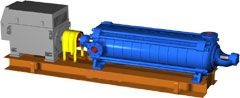 Насос ЦНС 300 - 600 секционный горизонтальный